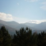 The Cairngorms from Glenmore