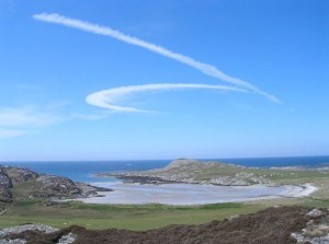 Colonsay, looking across the bay towards the MacGregor dun
