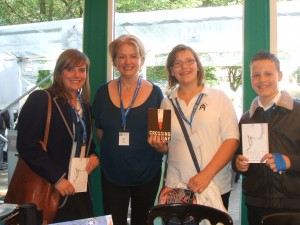 These were my fantastic chairpersons at the Edinburgh International Book Festival - from St Augustine's School.